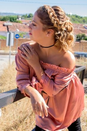 vestido rosa y shocker
